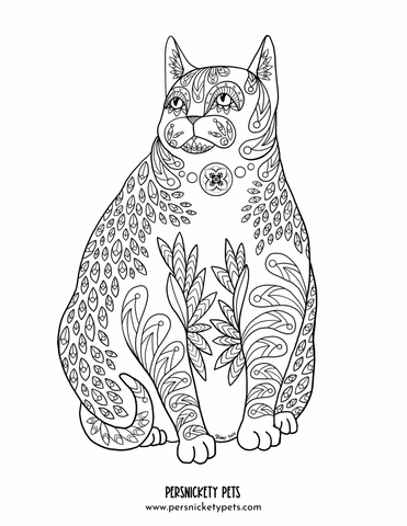 Persnickety Pets: Bubba zen art coloring page