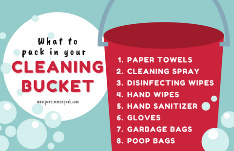 Persimmon Peak: What to pack in your cleaning bucket