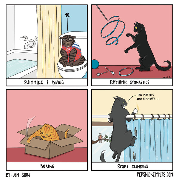 """The Persnickety Pets comic by Jen Siow: """"Champions!"""""""