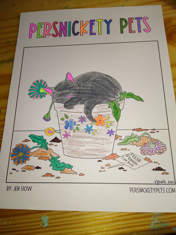 Persnickety Pets Coloring Contest winner: Comic coloring page