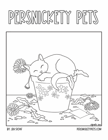 Persnickety Pets: Marmalade coloring page