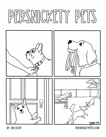Persnickety Pets: Dogs coloring page