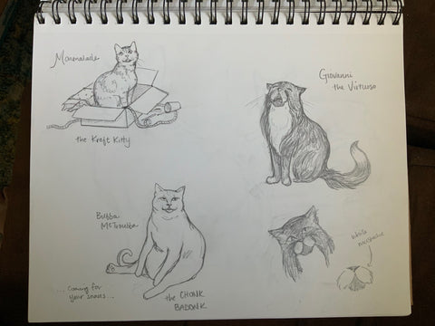 Persimmon Peak: the first Persnickety Pet characters
