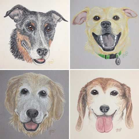 Persimmon Peak: Commission a portrait of your dog