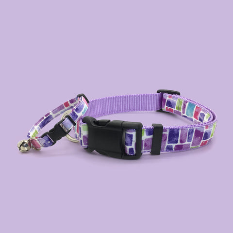 Persnickety Pets: Stained glass breakaway cat collar and classic dog collar