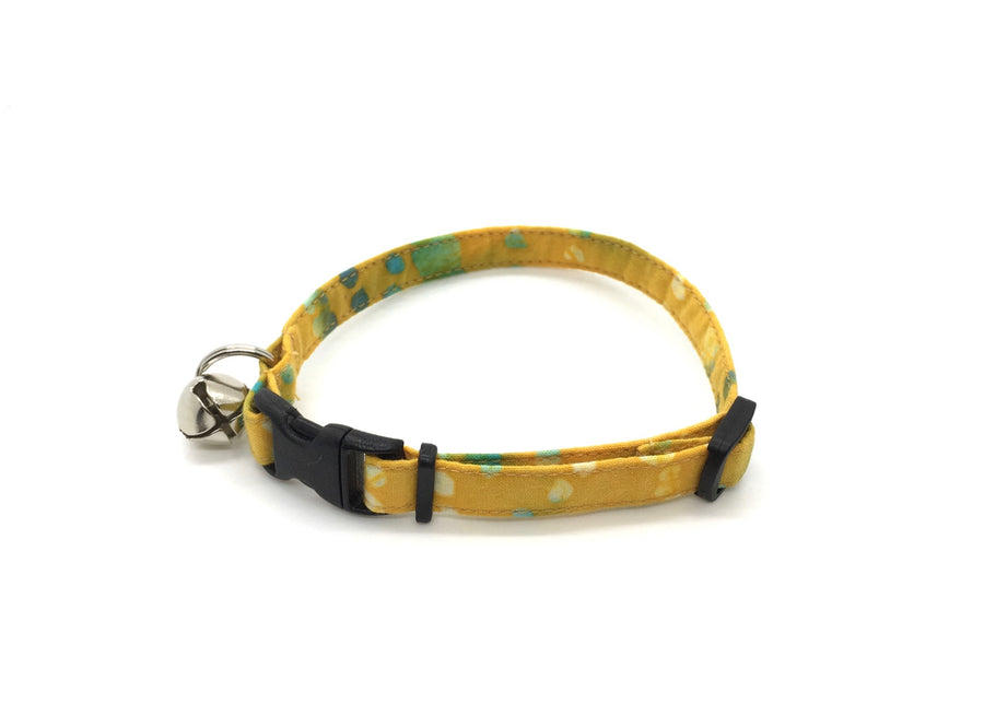 Persimmon Peak: batik dots breakaway cat collar