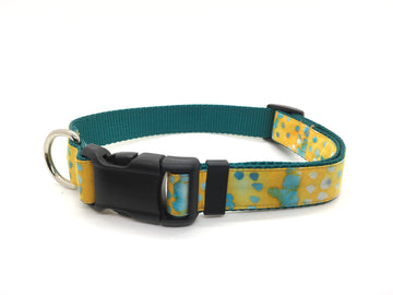 Persimmon Peak: Batik dots classic dog collar, single