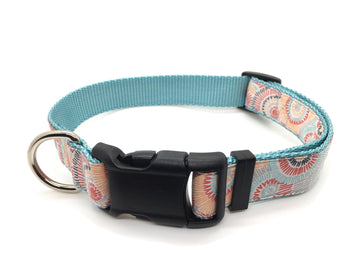 Persimmon Peak: Classic dog collar - sunburst on mist, single