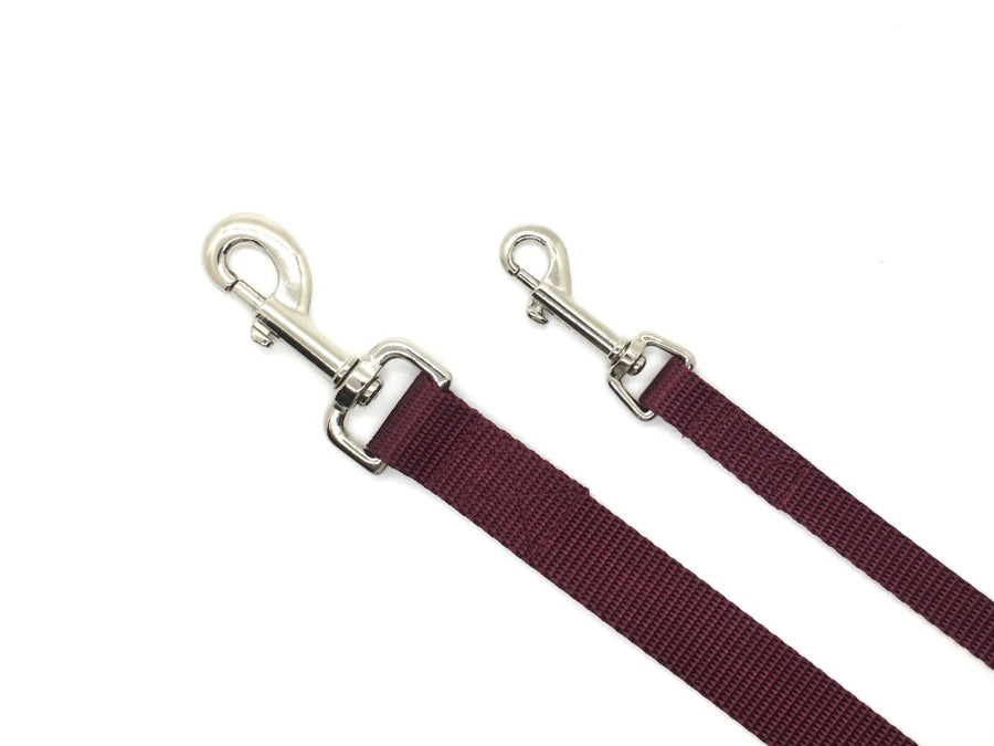 Persimmon Peak: merlot dog leash, 2 sizes