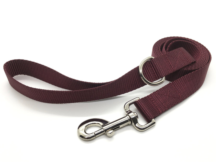 Persimmon Peak: merlot dog leash, wide