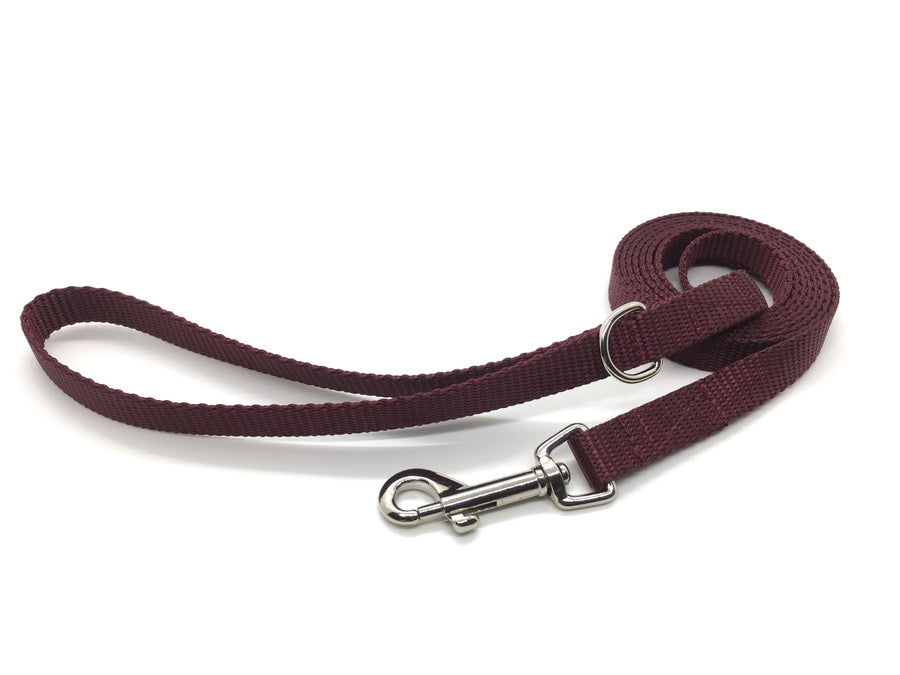 Persimmon Peak: merlot dog leash, standard
