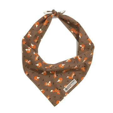 Persnickety Pets: foxes & hedgehogs fall bandana