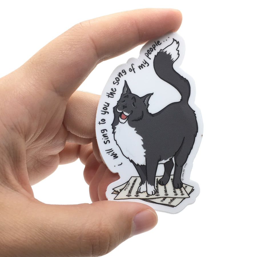 Persimmon Peak: The Persnickety Pets - Giovanni sticker