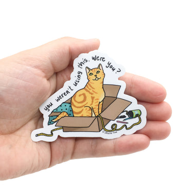 Persnickety Pets: The Persnickety Pets - Marmalade sticker in hand