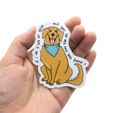 Persnickety Pets: The Persnickety Pets - Skipper sticker in hand