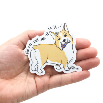 Persnickety Pets: The Persnickety Pets - Tucker sticker in hand