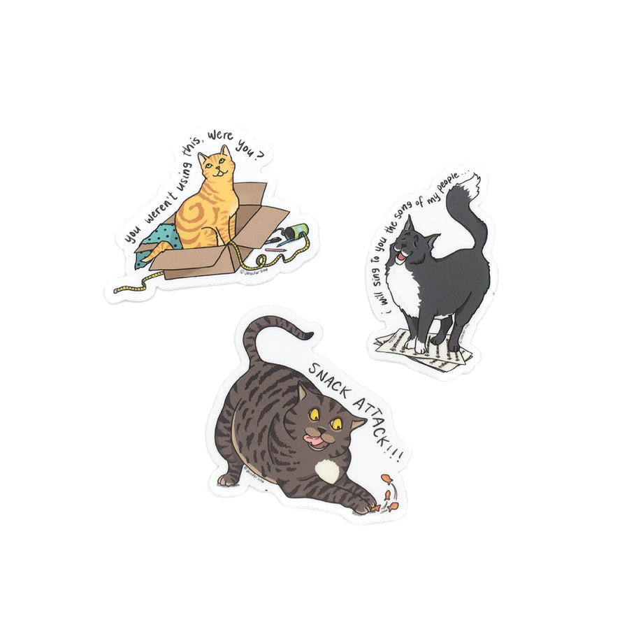 Persimmon Peak: The Persnickety Pets cat stickers