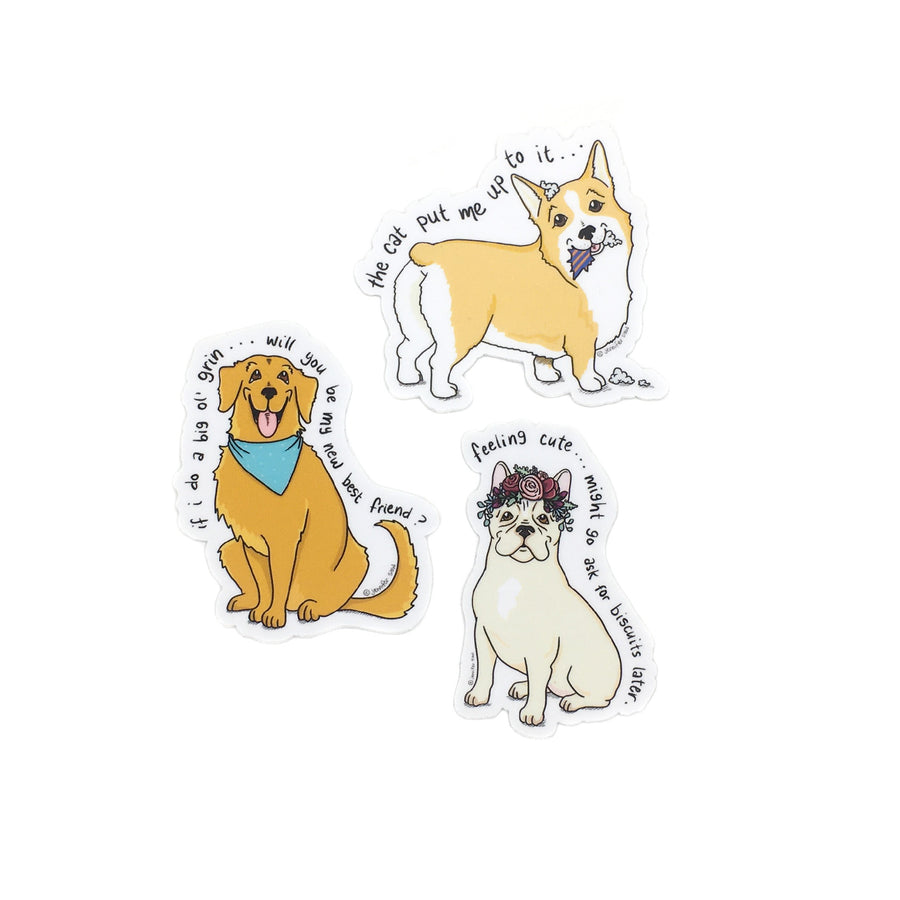 Persnickety Pets: The Persnickety Pets dog stickers