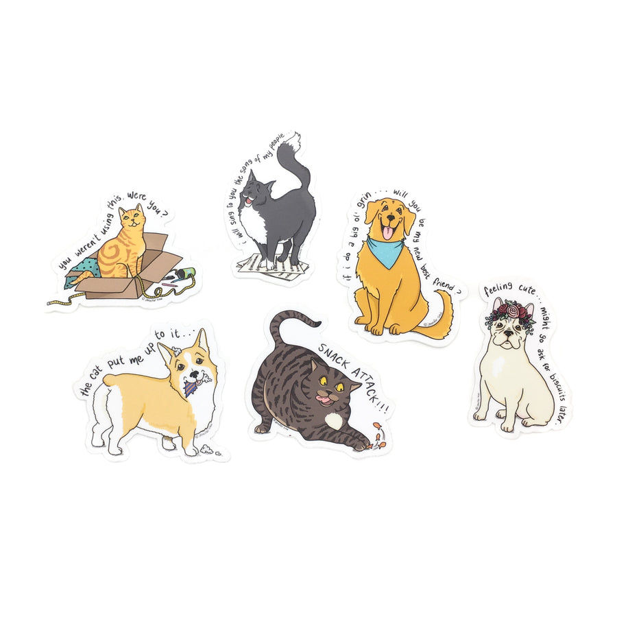 Persimmon Peak: The Persnickety Pets sticker pack