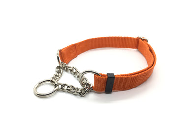 Persimmon Peak: pumpkin training collar, single