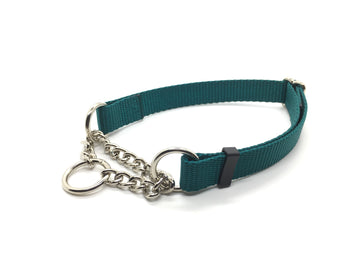Persimmon Peak: teal training collar, single