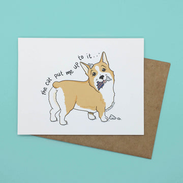 Persnickety Pets: Tucker folded notecard, front