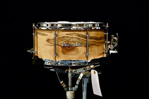 "Woods Custom Drums 6.5x14"" Curly Ambrosia Maple Snare Drum"