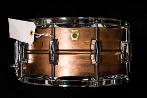 "Ludwig 6x14"" Raw Copper Phonic Snare Drum"