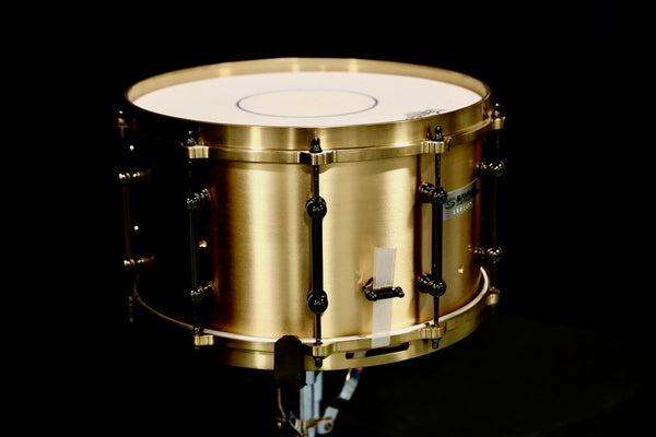 "Savage Custom 8x14"" Bell Bronze Snare Drum w/ Cast Bronze Hoops"
