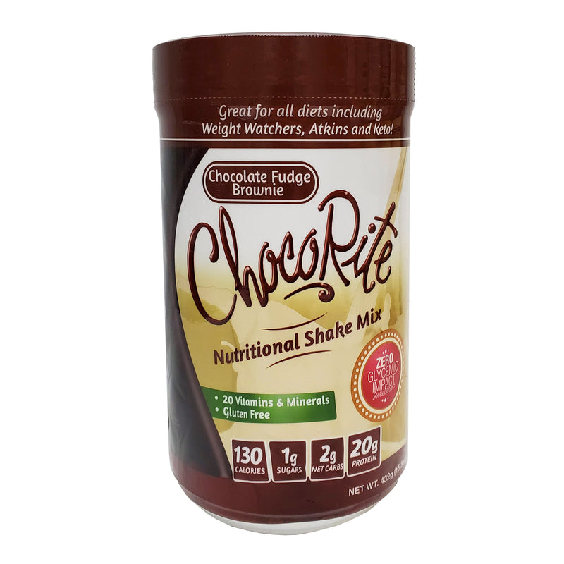 ChocoRite Protein Shake Mix Chocolate Fudge Brownie