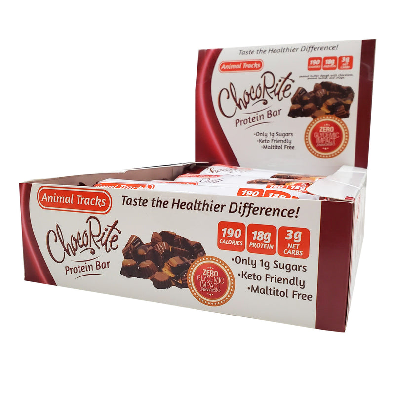 ChocoRite Animal Tracks Protein Bars Box of 12