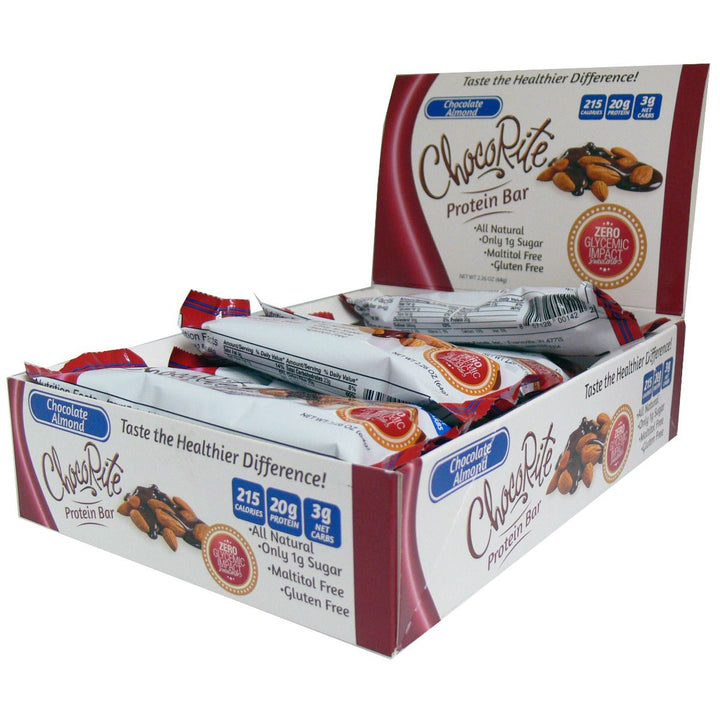 ChocoRite Chocolate Almond Protein Bars Box of 12