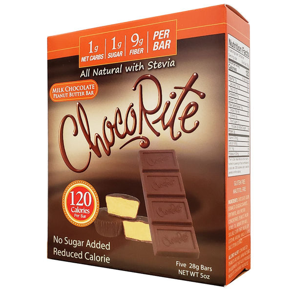 ChocoRite Sugar Free Milk Chocolate Peanut Butter Bar
