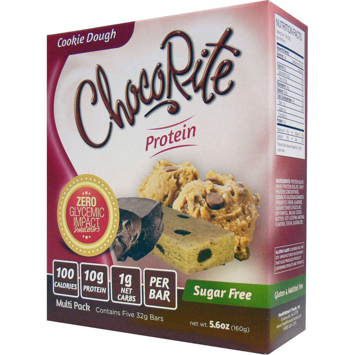 ChocoRite Cookie Dough Protein Bars Box of 5