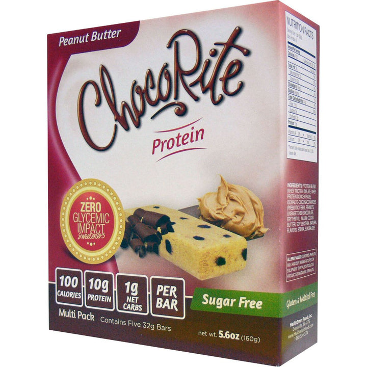 ChocoRite Peanut Butter Protein Bars Box of 5
