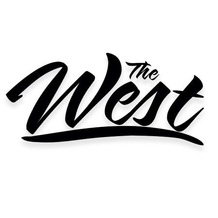 SCRIPT WEST STICKER
