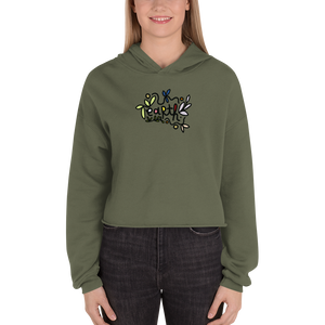 Climate Change Cropped Hoodie