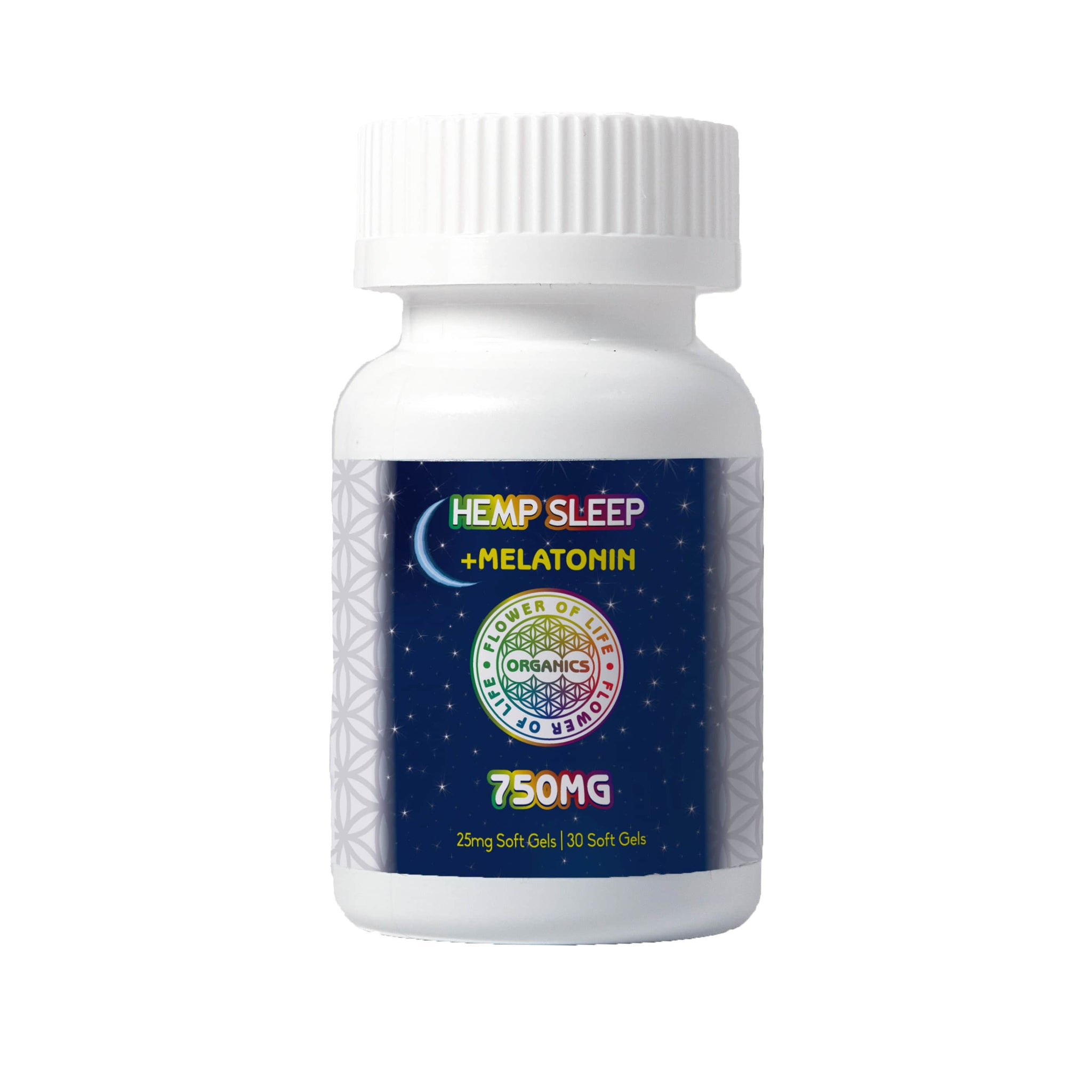 Hemp Oil Sleep Soft Gels (750mg) contain 1mg melatonin to help get to sleep with 25mg Hemp Extract for a full-nights rest