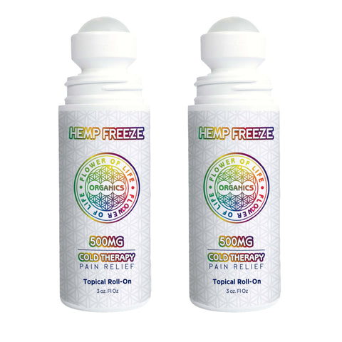 2 PACK - 500mg Hemp Freeze Roll On