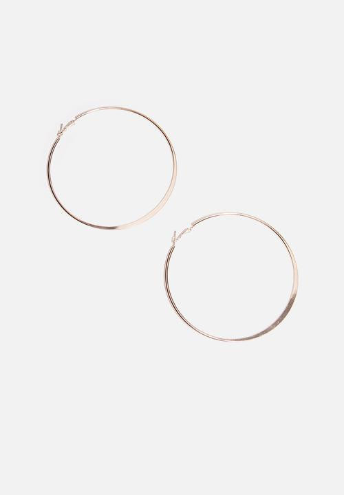 Misu 925 Sterling Silver Rose Gold Hoops No 93