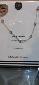 Misu 925 Sterling Silver CZ Necklace 159