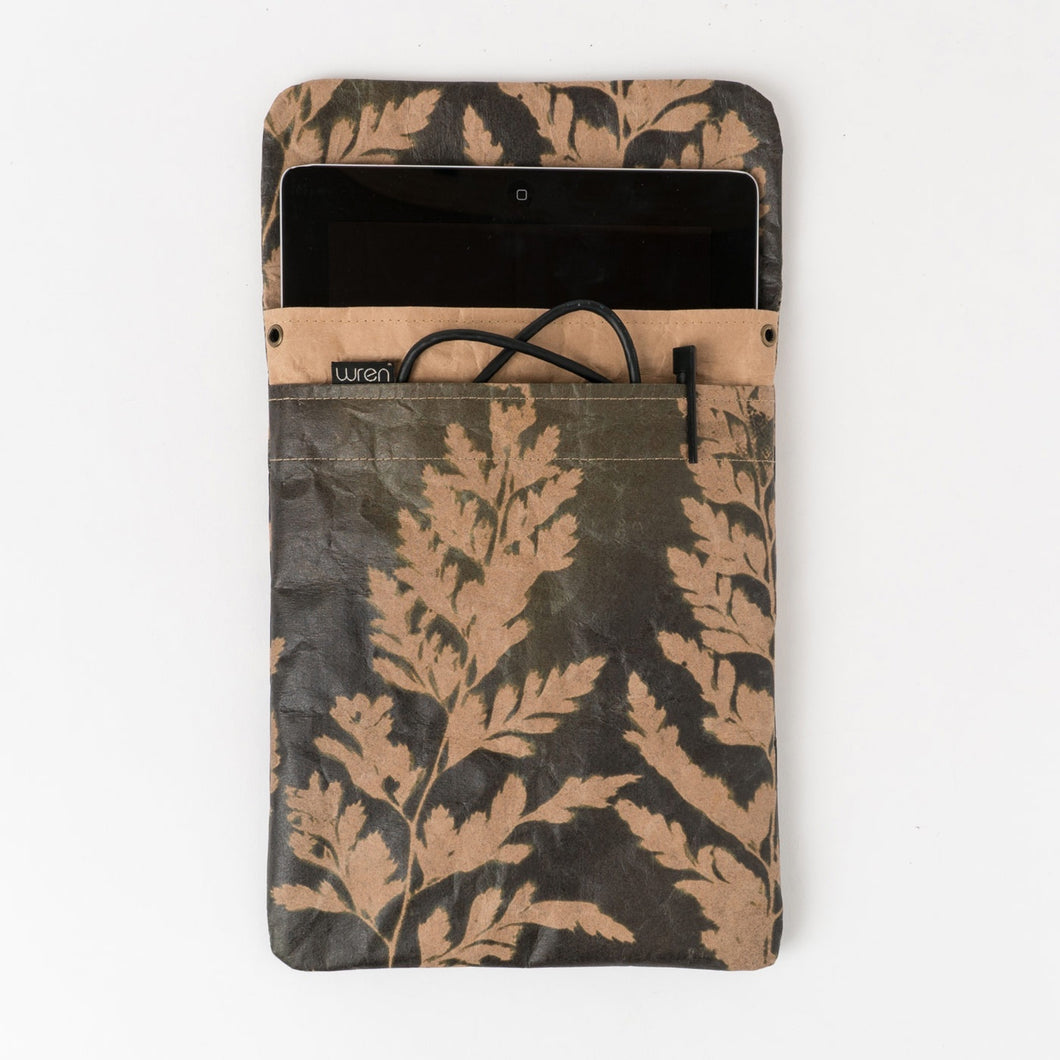 The Wren Fern 3 Asplenium (Olive) iPad, Tablet & Laptop sleeve