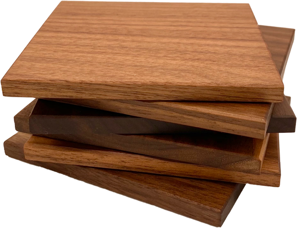 Customizable Walnut Coasters