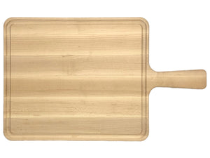 Maple Cutting Board With handle and Juice Groove