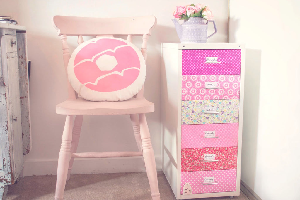 Fun Mini Filing Cabinet Makeover