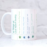 Personalised 10 Things We Love About Dad Mug