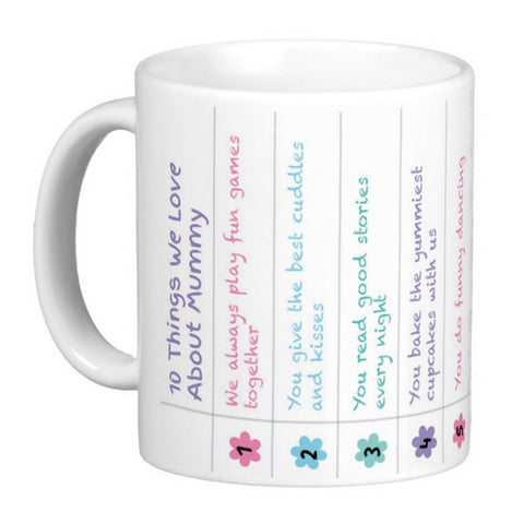 Personalised Things I Love About Mum Mug