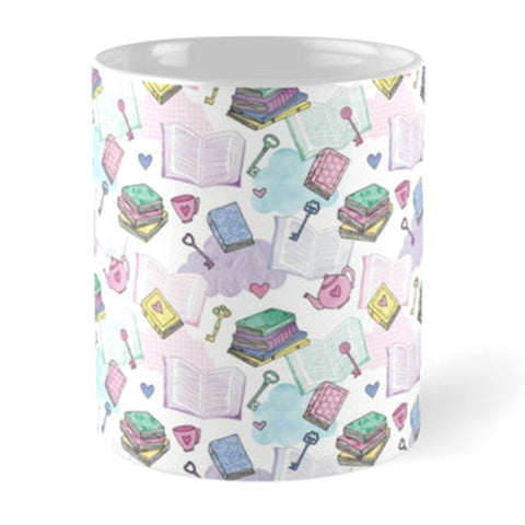 Book Love Pattern Mug