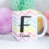 Chevron Rainbow Personalised Mug
