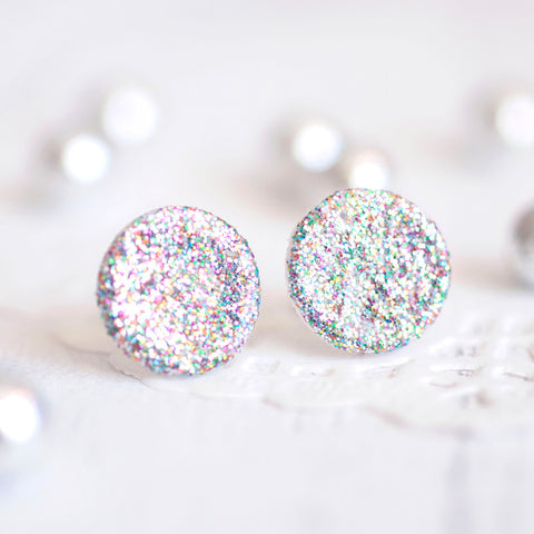 Circle Glitter Earrings